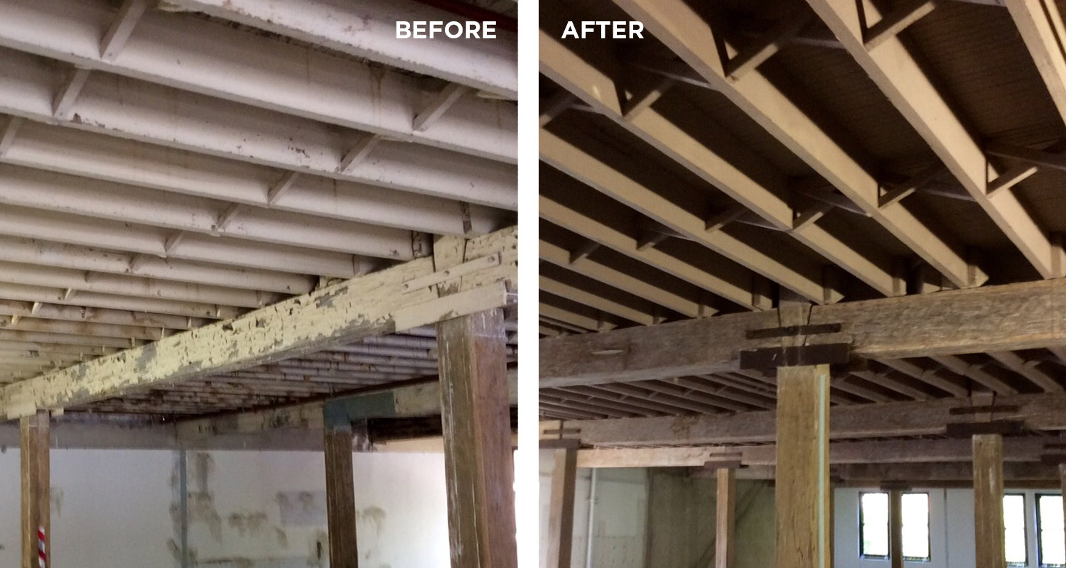 before and after timber blasting