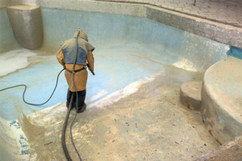 pool sandblasting and restoration